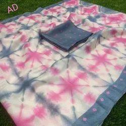 Casual Wear Printed Tushar Silk Saree