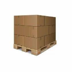 Ashoka Timber Brown Square Wooden Pallets Box