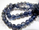 Iolite Gemstone Faceted Ball Shape Beads