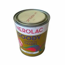 High Gloss Nerolac Goody Black Synthetic Enamel Paint, Packaging Type: Tin