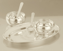 Silver Deluxe Tray Set