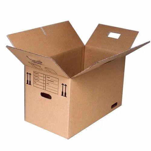 Brown Printed Corrugated Medicine Packaging Boxes