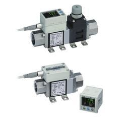 SMC 3-Color Display Digital Flow Switch For Water PF3W