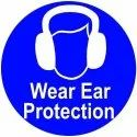 ACP Blue Personal Protection Sign Board, Shape: Square