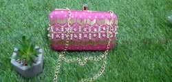 Pink Handwork Clutch Bag