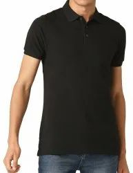 Mens Plain Black Cotton T Shirt
