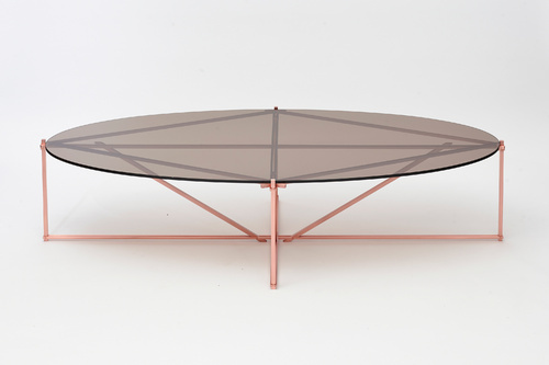 Gad 72 X 36 X 17 In Tensegrity Oval Coffee Table Id 20284316088