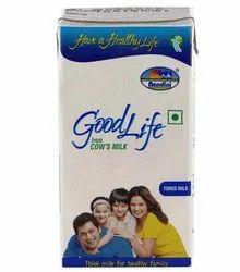 Pasteurized Nandini Goodlife UHT Toned Milk Tetra Pack 1ltr for Office Pantry, Shelf Life: 180 Days