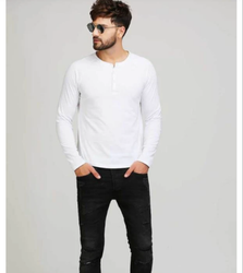 White Raglan Sleeves T Shirt