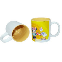 Printed Color Mug Yellow