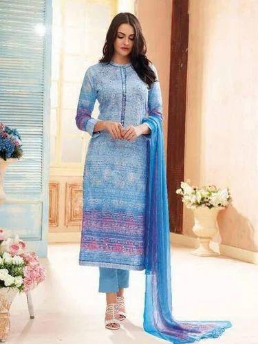 55f824ad1f Peach Pink Lawn Cotton Salwar Suit at Rs 3325 | Kuriachira ...