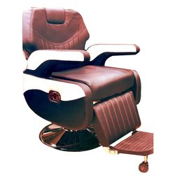 Brown Salon Chair with Footrest