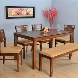 Teak Wood Dining Table Set