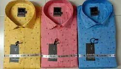 Casual Wear Satin Men Printed Shirt