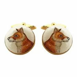 Hand Painted Exotic Animals Cufflinks Collection