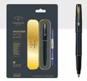 Frontier Matte Black Fountain Pen with Stainless Steel Trim