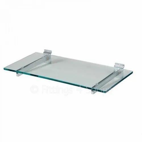 Transparent Ganesh Glass Toughened Glass Shelf