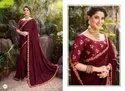 Maroon Color Vichitra Silk Saree