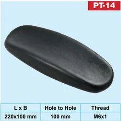 SRF Black PU Pad PT-14 Chair Handle, Size: 220x100 Mm (lxb)