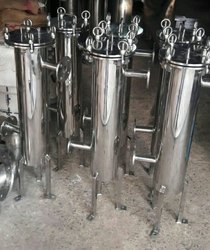 Stainless Steel Bag Filter Housing, For Water Filtration