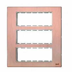 18 Module Brush Copper Modular Switch Plate