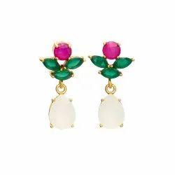 Chalcedony Designer Earring