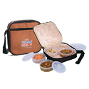 Square Meal 4 Zip Lunch Box