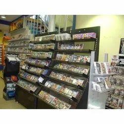 Brown Wooden Wall Display Racks for CD's & DVD, Model Name/Number: BM001