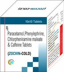 Paracetamol, Phenylephrine, Chlorpheniramine Maleate & Caffeine Tablets