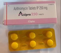 Cipla Azipro 250 Mg Tablets For Antibiotic, Packaging Type: Strip