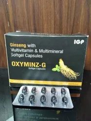 Ginseng Multivitamin and Multimineral Softgel Capsules, Treatment: Vitamin Deficiency