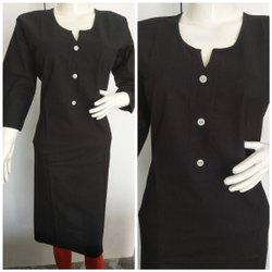 Straight Cotton Plain Kurti