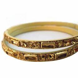 Brass Bangles Kundan LCT