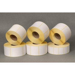 Galaxy White Self Adhesive Paper Labels, For Garments, Packaging Type: Roll