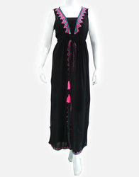 High Neck Summers Embroidery Kaftan