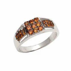 Natural Citrine Gemstone Mens Rings