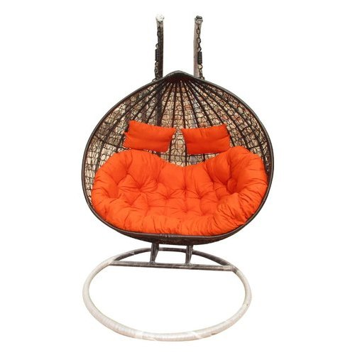 Aoctane Wicker Dark Brown With Orange Hanging Swing Size 6 3 Fit Seating Capacity 1 Seater Rs 12500 Set Id 20999826773