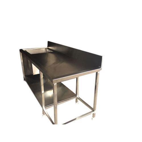 Stainless Steel Table Sink, Shape: Rectangular