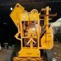 Concrete Mixer Machines with Hopper and Lift