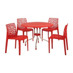 Plastic Cafe Table & Chair
