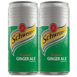 Schweppes Ginger Ale Cold Drink, Packaging Size: 300ml, Packaging Type: Can