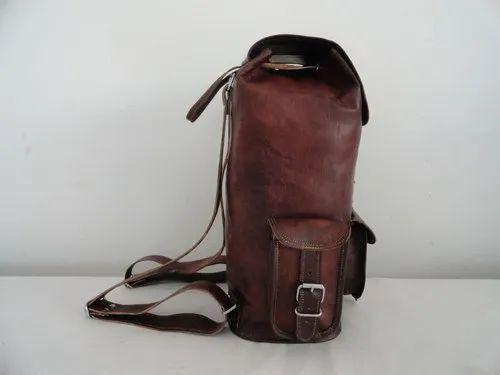 4e0904dc36ad Znt Bags Unisex Leather Retro Vintage Dapper Sailor Brown Backpack ...