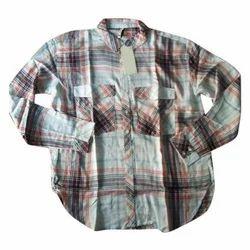 36 To 48 Cotton Mens Check Shirt