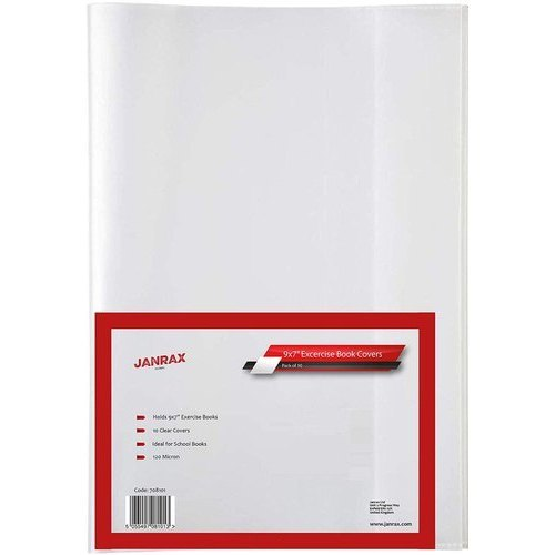 Contact Book covers Slip On 9x7 pack of 5 reusable school book sleeves ASSORTED