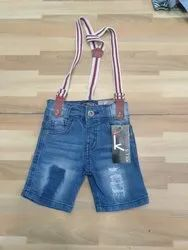 Blue Damage Kids Dungarees
