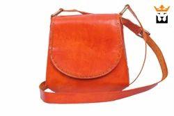 Leather Round Saddle Bag