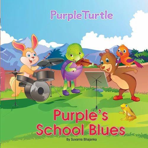 Suvarna Bhajanka English Purple' s School Blues Story Book For Children' s (Kids Books)