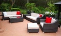 Standard Rattan Sofa Set, Size/dimension: 8*1.3