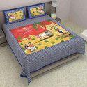 Jaipuri Printed Single Bed Sheet
