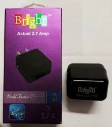 Bright Black 2.7 Amp USB Fast Adapter for Charging